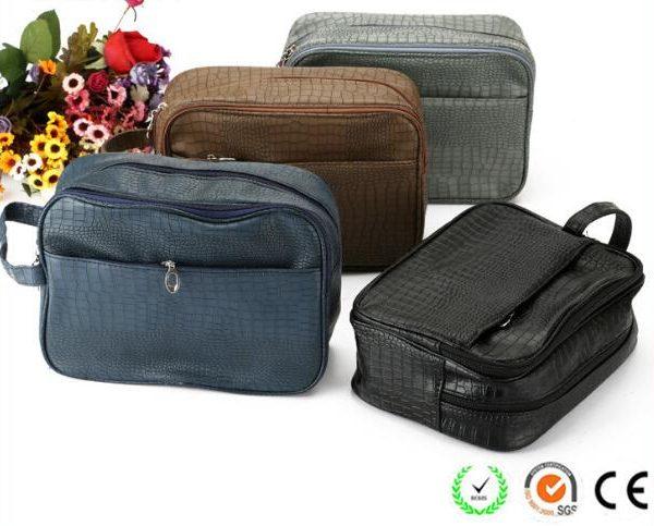 crocodile-pattern-plain-black-pu-men-cosmetic-bags-01