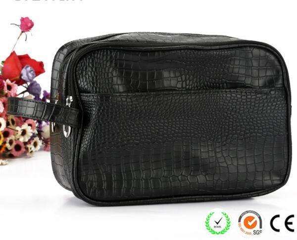 crocodile-pattern-plain-black-pu-men-cosmetic-bags-02