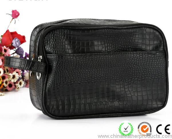 crocodile-pattern-plain-black-pu-men-cosmetic-bags-02