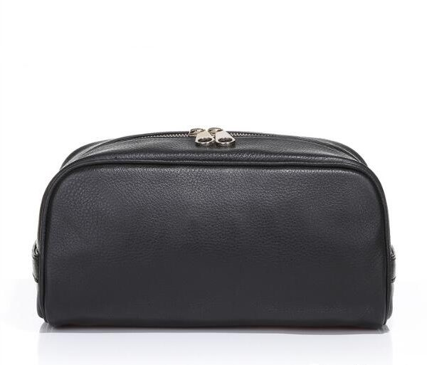 men-pu-leather-plain-black-cosmetic-bag-with-handle-02